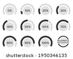 percent chart set. percentage...
