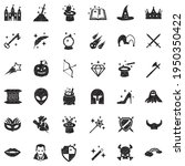 fantasy icons. black scribble...   Shutterstock .eps vector #1950350422