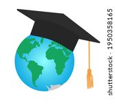 graduating square cap or mortar ... | Shutterstock .eps vector #1950358165