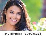 closeup headshot portrait of...   Shutterstock . vector #195036215