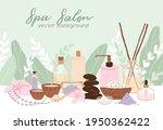 spa  wellness and beauty salon...   Shutterstock .eps vector #1950362422