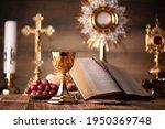 Holy communion. catholic theme. ...