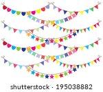 vector bunting | Shutterstock .eps vector #195038882