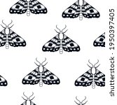 seamless pattern with moth.... | Shutterstock .eps vector #1950397405