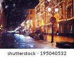 City   Pedestrian Street Night...