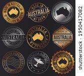 australia business metal stamps.... | Shutterstock .eps vector #1950417082