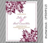wedding invitation cards with...   Shutterstock .eps vector #195049115