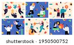 set of flat style business... | Shutterstock .eps vector #1950500752