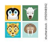 animals faces. vector... | Shutterstock .eps vector #1950548542