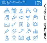 birthday and celebration two...   Shutterstock .eps vector #1950587692