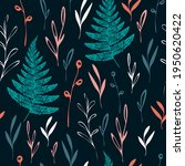 forest pattern with fern and... | Shutterstock .eps vector #1950620422