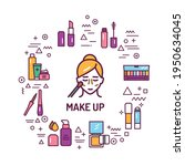 cosmetic products and... | Shutterstock .eps vector #1950634045