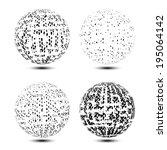 set of grunge globes | Shutterstock .eps vector #195064142