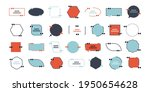 speech bubble quote icon set ... | Shutterstock .eps vector #1950654628