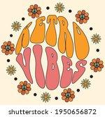 70s groovy retro vibes slogan... | Shutterstock .eps vector #1950656872