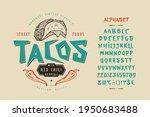 font tacos. craft retro vintage ... | Shutterstock .eps vector #1950683488