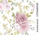 beautiful floral seamless... | Shutterstock .eps vector #1950688288