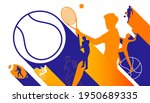 vector illustration of sports... | Shutterstock .eps vector #1950689335