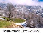 spring landscape in the alps... | Shutterstock . vector #1950690322
