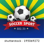 Soccer 2014 vector poster. Can use for sport festival. World Football Championship. - stock vector
