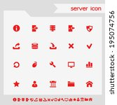 simple flat social red icons