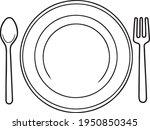 Cutlery  Line Vector...