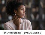 Pensive African American Woman...