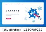 vaccine coronavirus banner....   Shutterstock .eps vector #1950909232