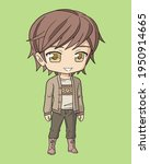 young boy anime chibi character ... | Shutterstock .eps vector #1950914665