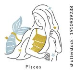 twelve constellations pisces... | Shutterstock .eps vector #1950939238
