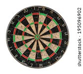 Old Target Dartboard Isolate On ...