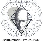 esoteric mystical symbol with...   Shutterstock . vector #1950971932