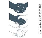 illustration of  handshake.... | Shutterstock . vector #195101402