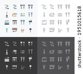vector linear web icons set  ... | Shutterstock .eps vector #1951015618