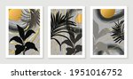 abstract art leaf background... | Shutterstock .eps vector #1951016752