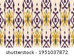 beautiful ethnic abstract ikat... | Shutterstock .eps vector #1951037872