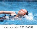children in swimming pool | Shutterstock . vector #195106832