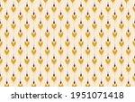 beautiful ethnic abstract ikat...   Shutterstock .eps vector #1951071418