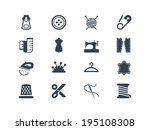 sewing and tailor icons | Shutterstock .eps vector #195108308
