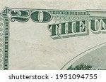 Twenty Dollar Banknote. Usa...