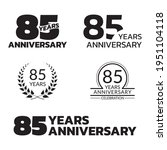 85 Years Anniversary Icon Or...