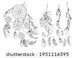 dreamcatcher hippie decoration... | Shutterstock .eps vector #1951116595