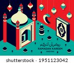 ramadan kareem background... | Shutterstock .eps vector #1951123042