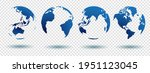 set of globe 3d geopolitical... | Shutterstock .eps vector #1951123045