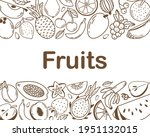 Frame With Fresh Fruits And...