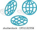 3d globe icon .isometric vector ...   Shutterstock .eps vector #1951132558