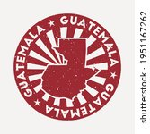 guatemala stamp. travel red... | Shutterstock .eps vector #1951167262