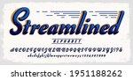 streamlined alphabet  a script... | Shutterstock .eps vector #1951188262