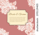 wedding invitation cards with... | Shutterstock . vector #195119405