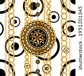 seamless pattern decorated with ... | Shutterstock .eps vector #1951201345